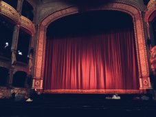 Sneak shot of the Old Vic stage.